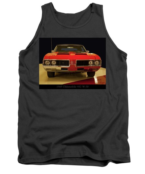 Tank Top featuring the photograph 1969 Oldsmobile 442 W-30 by Chris Flees