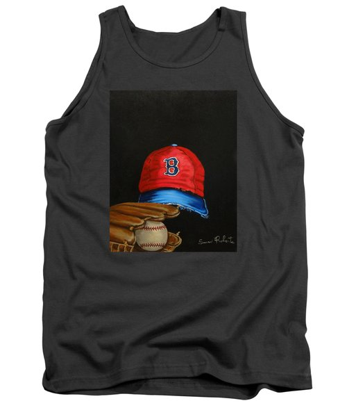 Tank Top featuring the painting 1975 Red Sox by Susan Roberts