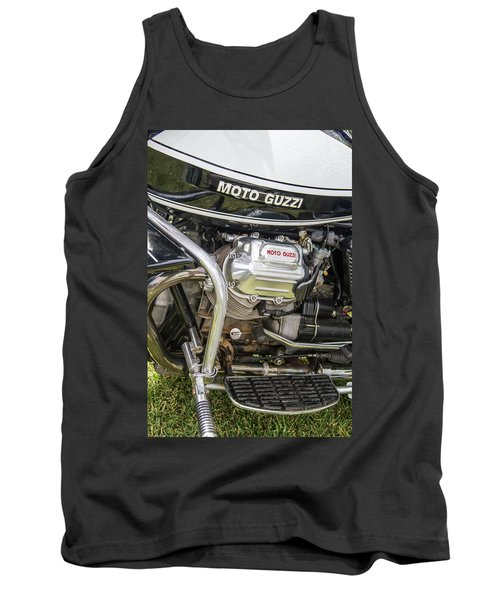 Tank Top featuring the photograph 1976 Moto Guzzi V1000 Convert by Roger Mullenhour