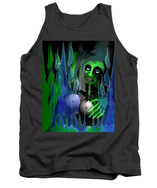 Tank Top featuring the digital art 1981 - But My New Silicon Breasts Will Last Forever 2017 by Irmgard Schoendorf Welch