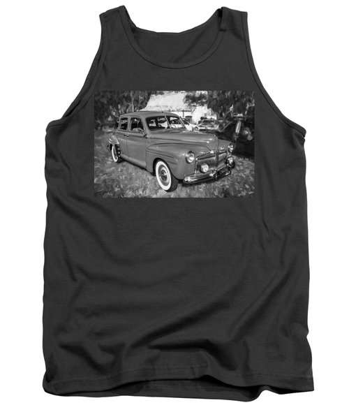 1942 Ford Super Deluxe Sedan Bw  Tank Top