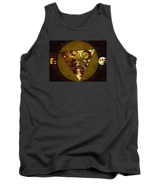 Abstract Painting - Golden Sand Tank Top