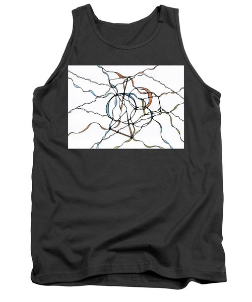 Abstract Pencil Pattern Tank Top