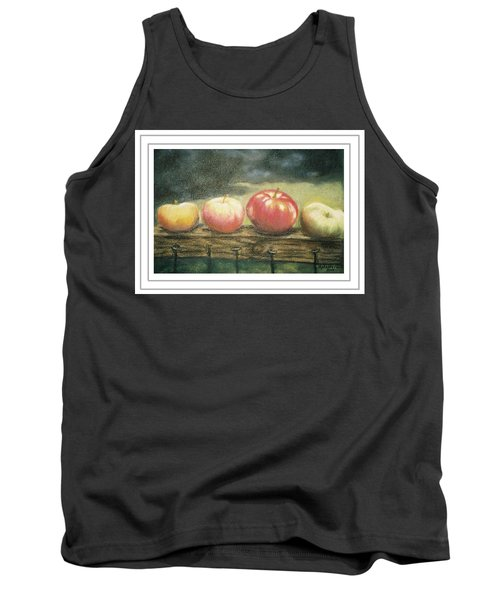 Apples On A Rail Tank Top by Harriett Masterson