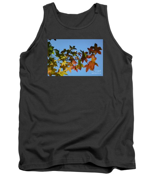 Tank Top featuring the photograph Autumn Leaves by Jean Bernard Roussilhe