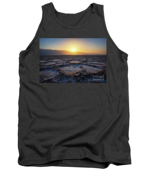 Badwater Basin Salt Flats Sunset Tank Top