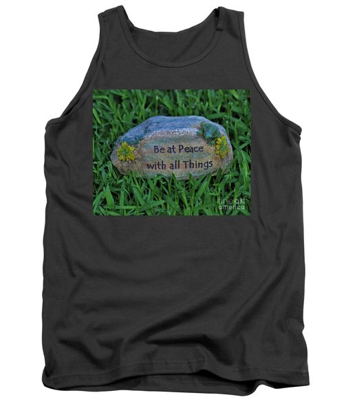 Tank Top featuring the photograph 2- Be At Peace by Joseph Keane
