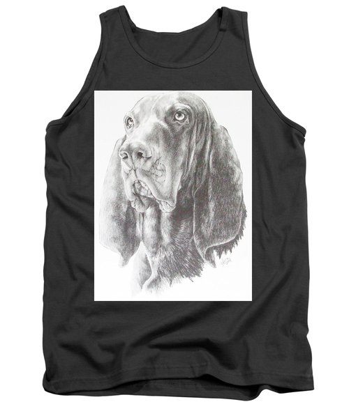 Black And Tan Coonhound Tank Top by Barbara Keith