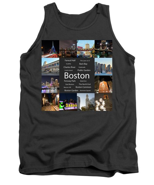 Boston Ma Collage Tank Top
