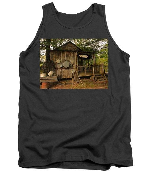 Cajun Cabin Tank Top by Ronald Olivier