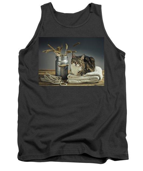 Cat Portrait Tank Top