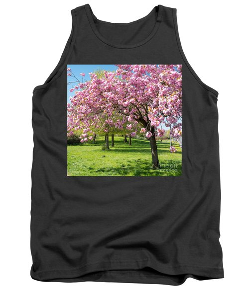 Cherry Blossom Tree Tank Top by Colin Rayner