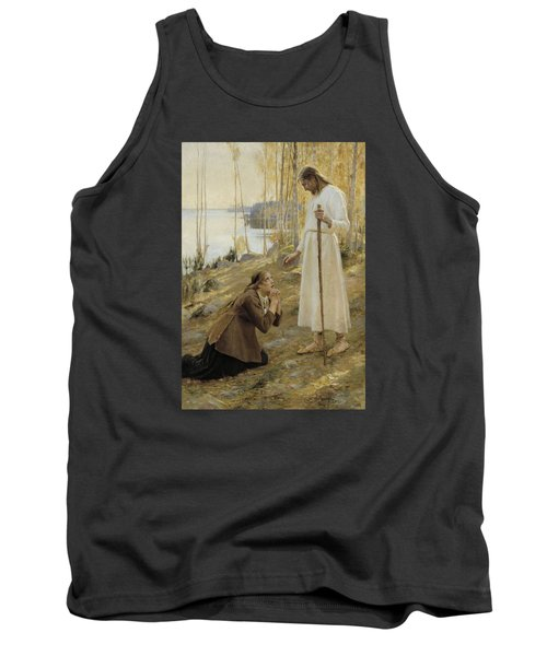 Christ And Mary Magdalene Tank Top by Albert Edelfelt