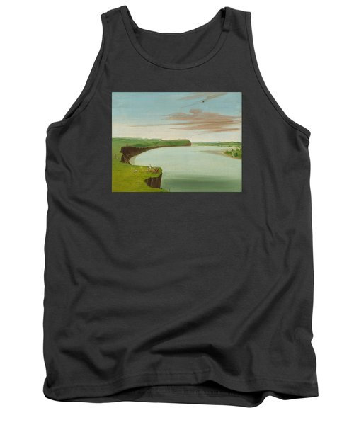Distant View Of The Mandan Village Tank Top by George Catlin
