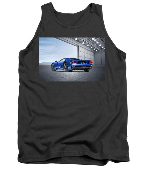 Tank Top featuring the digital art Ford Gt by Peter Chilelli