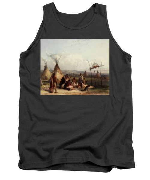 Funeral Scaffold Of A Sioux Chief Tank Top