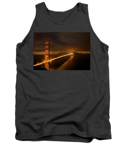 Golden Gate Bridge Tank Top by Evgeny Vasenev