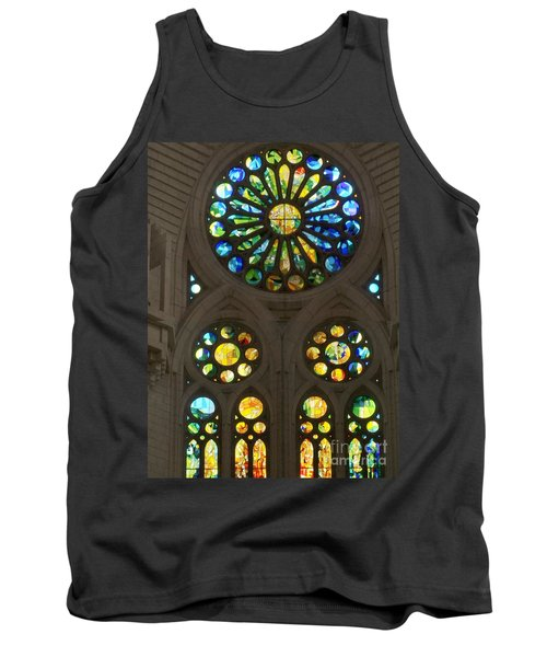 Graphic Art From Photo Library Of Photographic Collection Of Christian Churches Temples Of Place Of  Tank Top by Navin Joshi