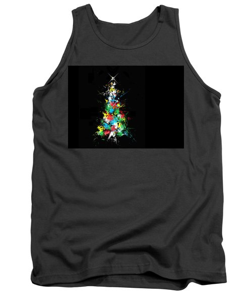 Happy Holidays Tank Top by Ludwig Keck