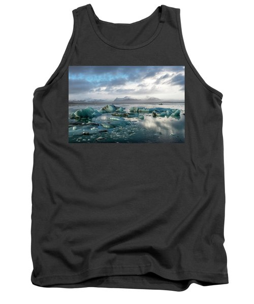 Tank Top featuring the photograph Jokulsarlon, The Glacier Lagoon, Iceland 3 by Dubi Roman