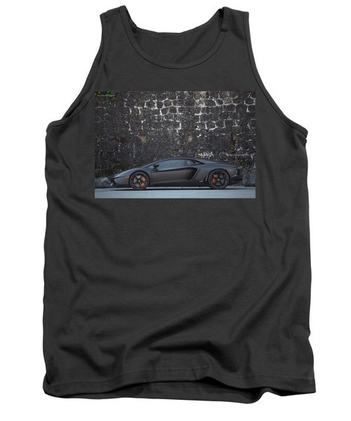 Tank Top featuring the photograph #lamborghini #aventador  by ItzKirb Photography