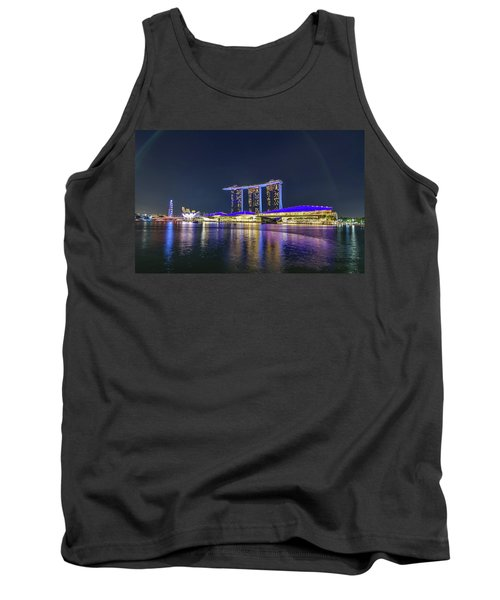 Marina Bay Sands And The Artscience Museum In Singapore Tank Top