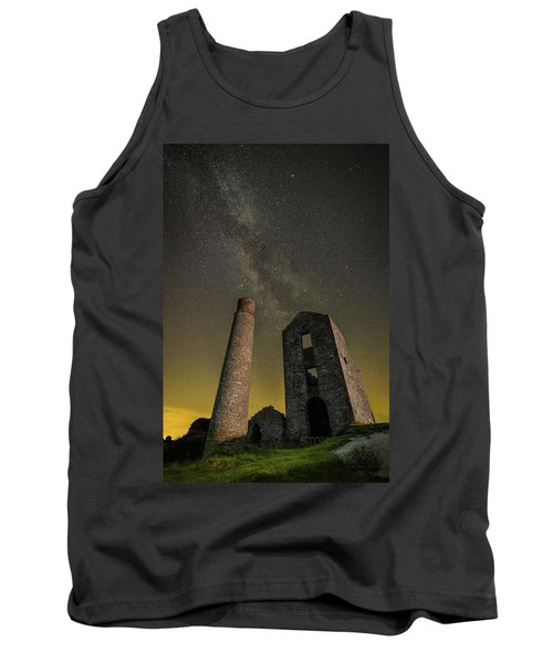 Milky Way Over Old Mine Buildings. Tank Top