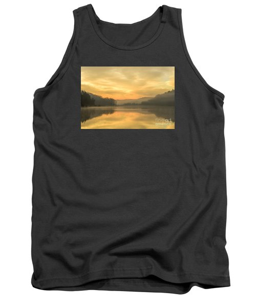 Misty Morning On The Lake Tank Top by Thomas R Fletcher