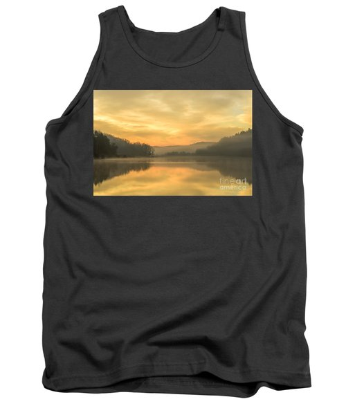 Misty Morning On The Lake Tank Top