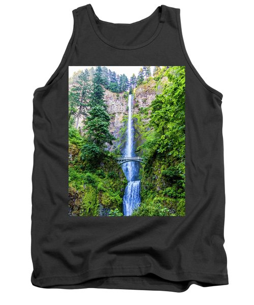 Tank Top featuring the photograph Multnomah Falls by Jonny D