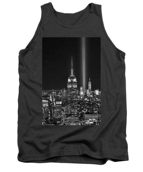 New York City Tribute In Lights Empire State Building Manhattan At Night Nyc Tank Top