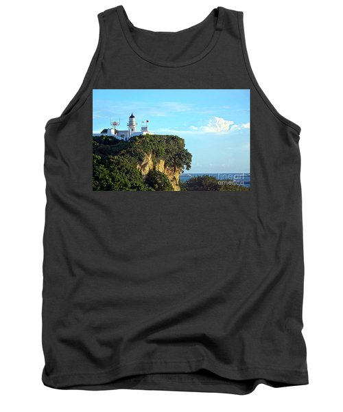 Tank Top featuring the photograph Old Lighthouse Overlooking Kaohsiung Harbor by Yali Shi