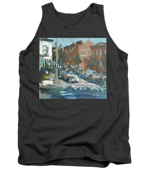 Tank Top featuring the painting Original Contemporary Urban Painting Featuring Richmond Virginia by Robert Joyner