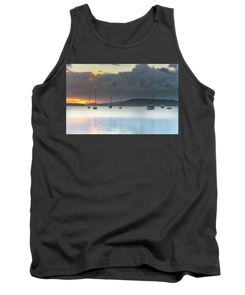 Overcast Sunrise Waterscape Tank Top