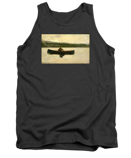 Tank Top featuring the painting Playing A Fish by Winslow Homer