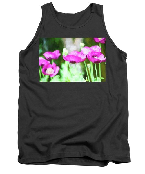 Tank Top featuring the painting Poppies by Bonnie Bruno