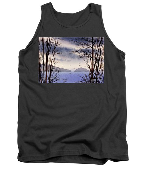 Tank Top featuring the painting Quiet Shore by James Williamson
