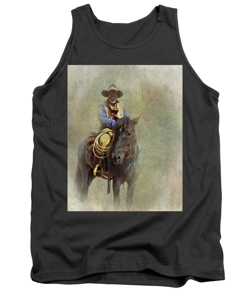 Tank Top featuring the photograph Ride Em Cowboy by David and Carol Kelly