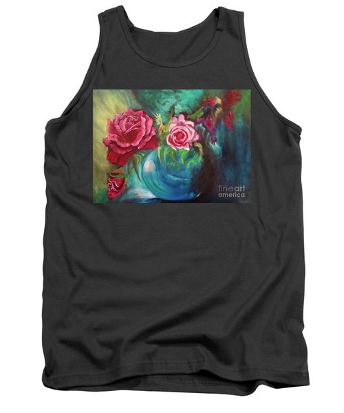 Roses One Of A Kind Handmade Tank Top