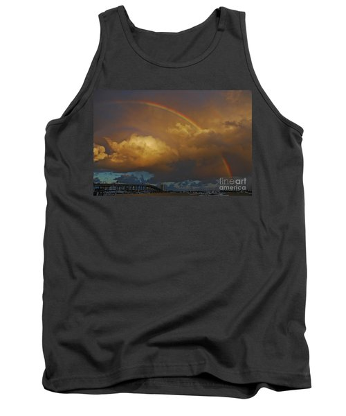 Tank Top featuring the photograph 2- Singer Island Stormbow by Rainbows