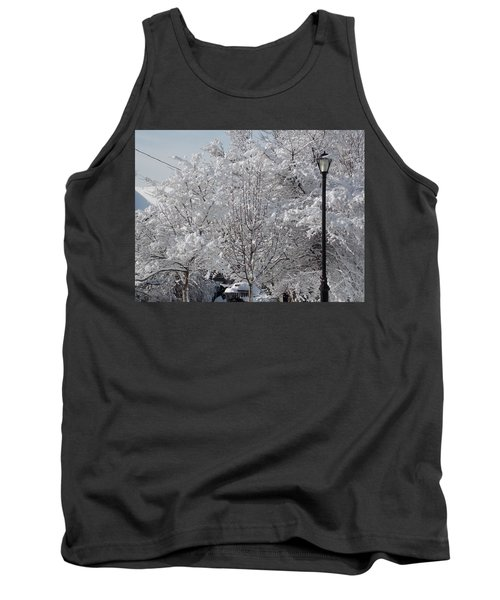 Snow Covered Trees Tank Top