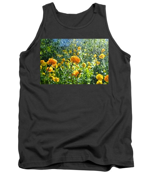 Spring Flowers In The Rain Tank Top