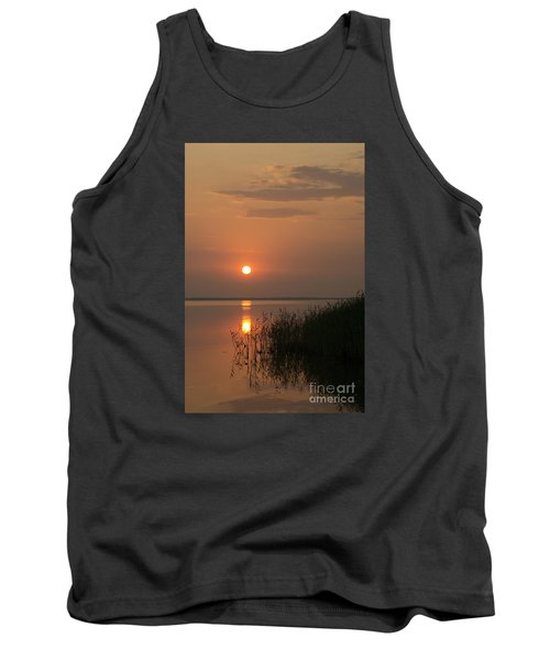 Tank Top featuring the photograph Sunset  by Inge Riis McDonald