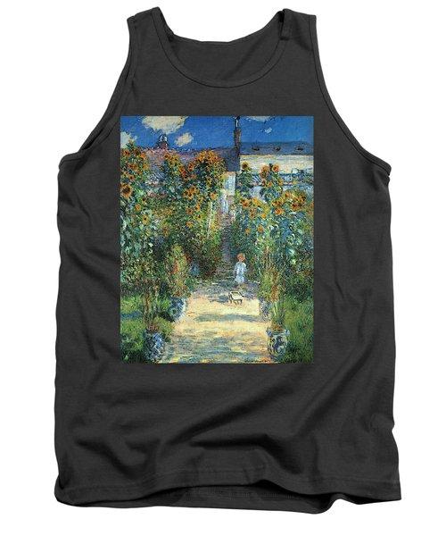 The Artist's Garden At Vetheuil Tank Top