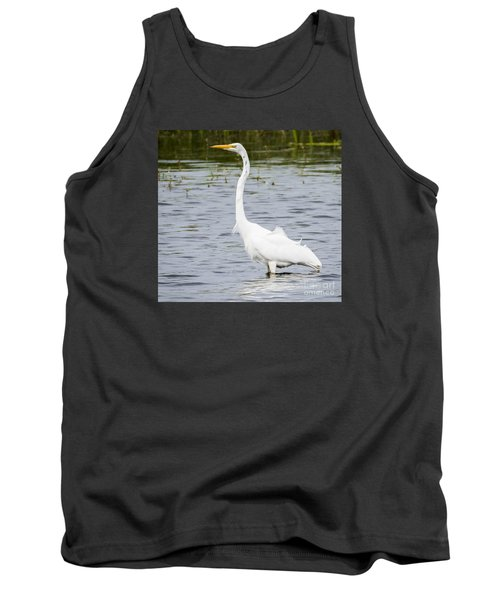 Tank Top featuring the photograph The Great White Egret by Ricky L Jones