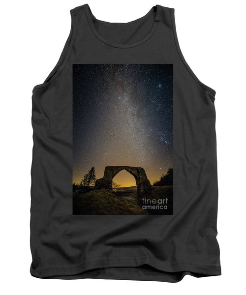 The Milky Way Over The Hafod Arch, Ceredigion Wales Uk Tank Top