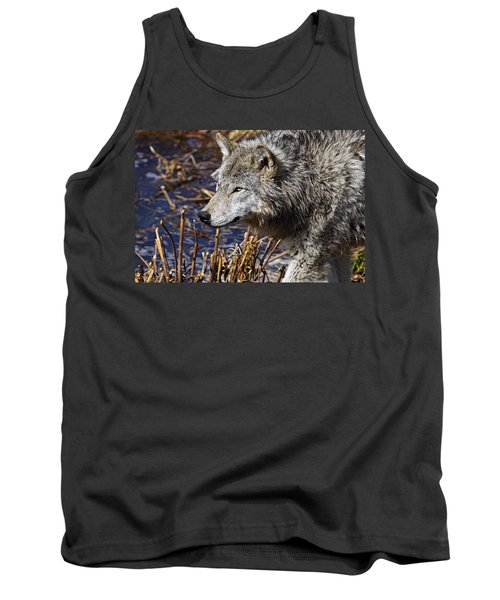 Tank Top featuring the photograph Timber Wolf by Michael Cummings