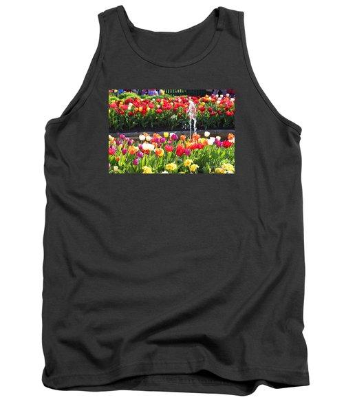 Tulip Festival Tank Top by Bev Conover