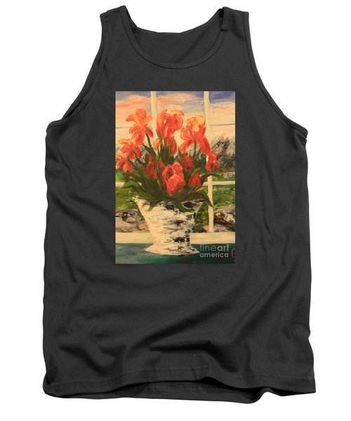 Tank Top featuring the painting Tulips by Nancy Czejkowski