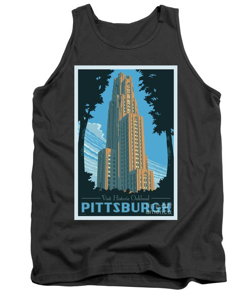 Vintage Style Pittsburgh Travel Poster Tank Top by Jim Zahniser